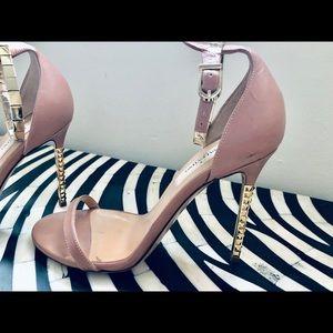 Valentino Gold stud heel sandals - ankle bracelet